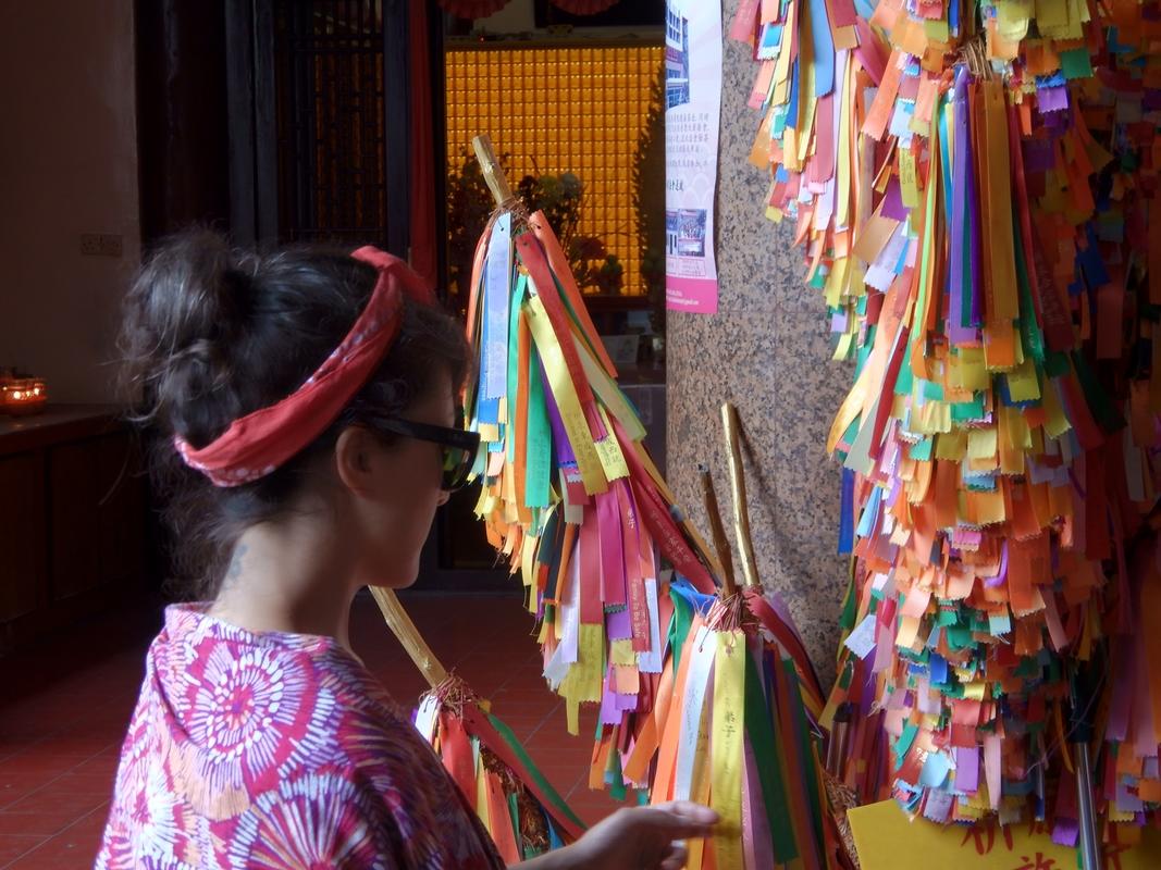 Cintas de deseos templo Kek Lok Si