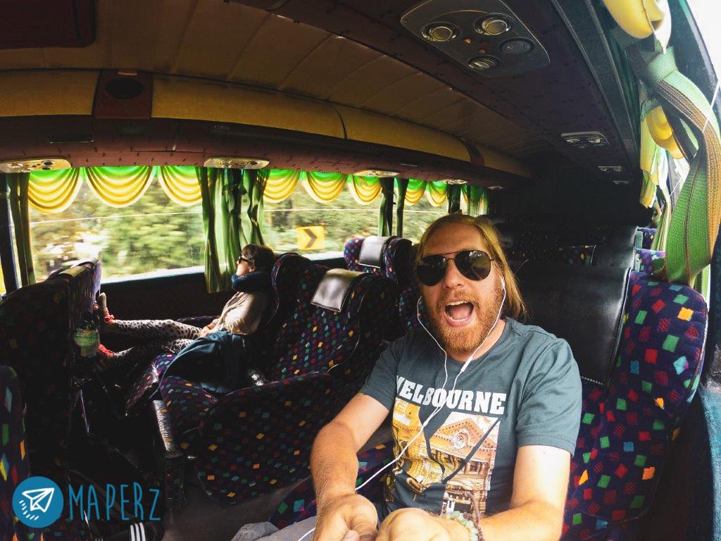 Bus desde KL hacia Cameron Highlands